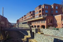 Georgetown neighborhood in Washington D.C. royalty free stock image