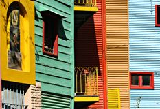 Colourful houses at La Boca Royalty Free Stock Photo