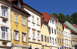 Colourful houses in Ljubljana Stock Images