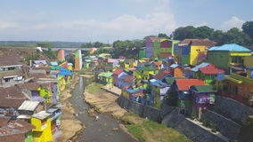 Colourful houses in Malang city in Indonesia. Local people artistry in Malang Java Indonesia Stock Images
