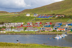 Colourful houses in Scalloway Stock Photo