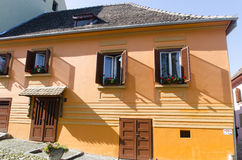 Colourful houses in Sighisoara, Transylvania Stock Photography