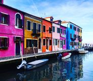 Colourful houses royalty free stock photography