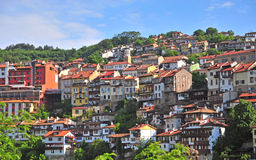 Colourful houses of Veliko Tarnovo Royalty Free Stock Images