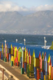 Colourful huts on the beach, St James, Cape Town Stock Photo