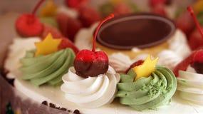 Colourful ice cream cake Stock Photos
