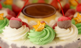 Colourful ice cream cake Royalty Free Stock Photography