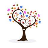 Valentine tree, love, leaf from hearts, vector illustration royalty free illustration
