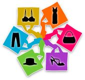 Shopping Bags Design Stock Photography