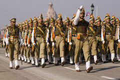 Colourful Indian Army soldiers Stock Image