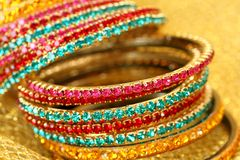 Free Colourful Indian Bangles. Stock Images - 12629624