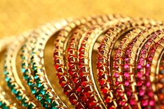 Colourful Indian Bangles. Royalty Free Stock Photography