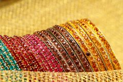 Colourful Indian Bangles. Stock Photos