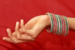 Colourful Indian Bangles. Royalty Free Stock Image