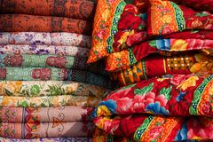 Colourful Indian cloths Royalty Free Stock Image