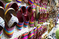 Colourful Indian Handmade Shoe. From India stock images