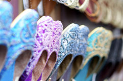 Colourful indian shoes Royalty Free Stock Images