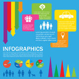 A colourful infochart Stock Images