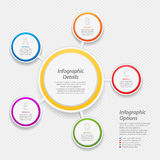 Colourful infographic circle background Royalty Free Stock Photos
