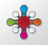 Colourful infographic circle Royalty Free Stock Photo