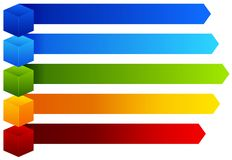 A Colourful Information Chart. Illustration stock illustration
