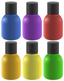 Colourful ink bottles Stock Image