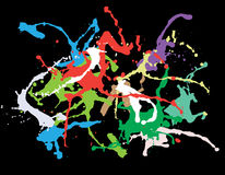 Colourful ink splat design Stock Images