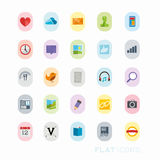 Colourful Interface Icons stock illustration