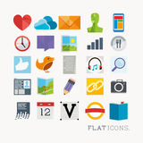 Colourful Interface Icons vector illustration