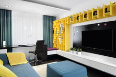 Colourful interior of children room Royalty Free Stock Images