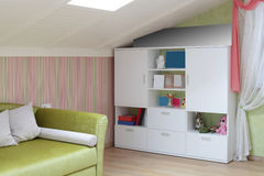 Colourful interior of children room Stock Images