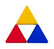 Colourful isolated triangles Royalty Free Stock Photo