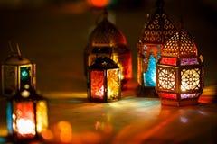 Colourful j?zyka arabskiego Ramadan lampion obraz stock