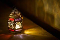 Colourful j?zyka arabskiego Ramadan lampion zdjęcia stock