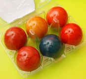 Colourful jajka Obrazy Royalty Free