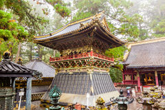 Colourful Japanese pagoda in Nikko. A colourful pagoda among the shrines and temples of Nikko. UNESCO World Heritage Site. Japan Stock Photos