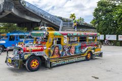 Colourful Jeepney w Puerto Princessa Obraz Stock