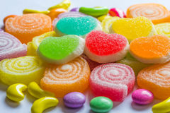 Colourful jelly candies stock image
