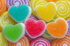 Colourful  jelly candies Stock Images