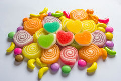 Colourful  jelly candies Royalty Free Stock Photography