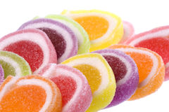 Colourful Jelly Sweets Isolated Royalty Free Stock Photos