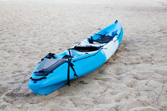Colourful kayak on the beach Royalty Free Stock Image