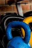 Colourful kettlebells Royalty Free Stock Image