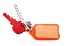 Colourful Keys and Key Tag Royalty Free Stock Photos