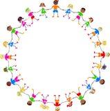 Colourful kids stock illustration