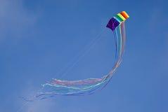 Colourful kite in sky. Kite flying in blue sky Stock Images