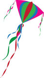 Colourful kite. In the sky Royalty Free Stock Images