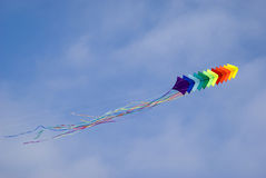 Colourful kite in sky Royalty Free Stock Photos