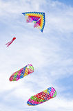 Colourful Kite in sky Stock Images