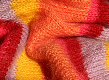 Colourful knitted textile Stock Images
